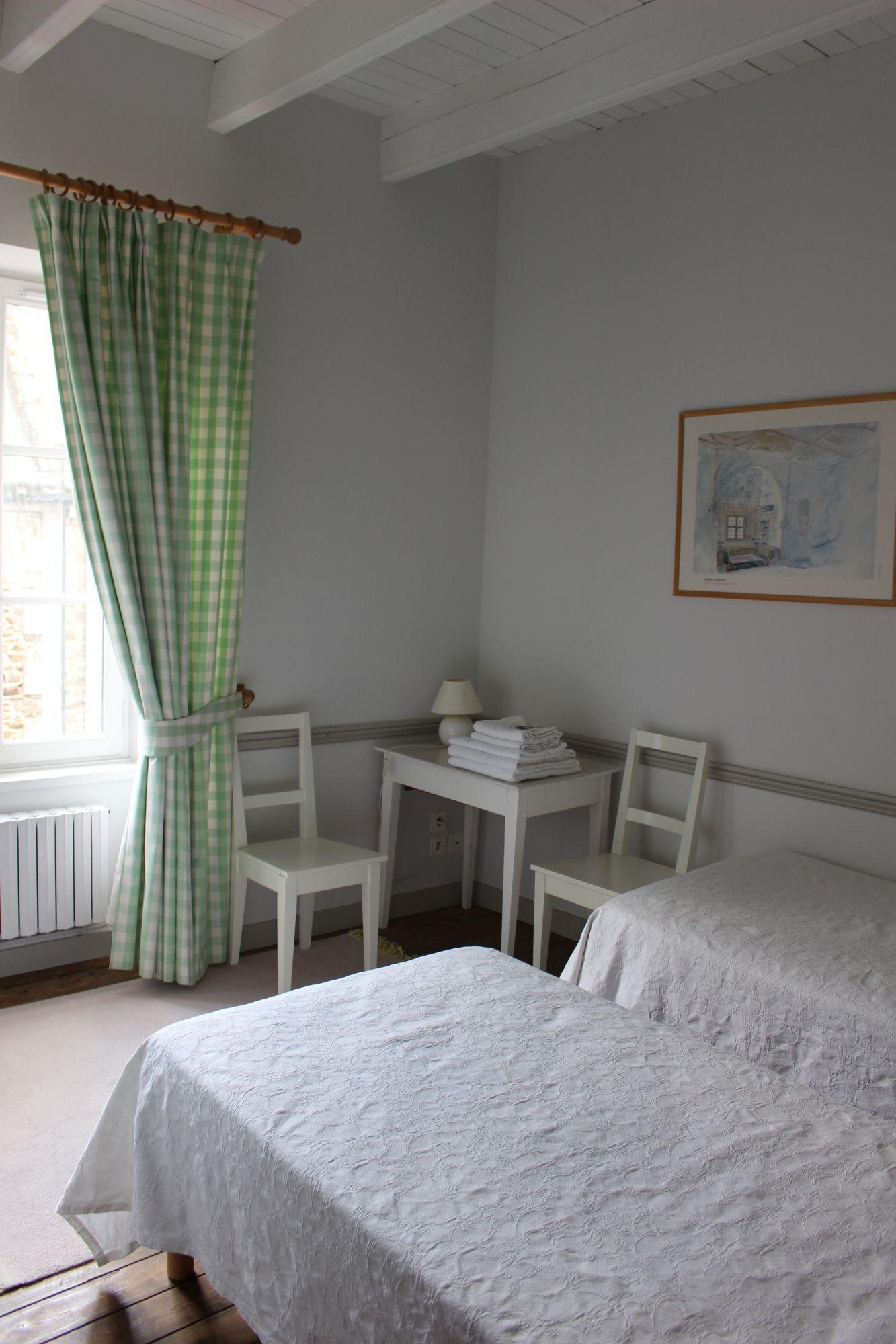 Chambre verte Les mouettes Saint Suliac Chambres d h´tes les